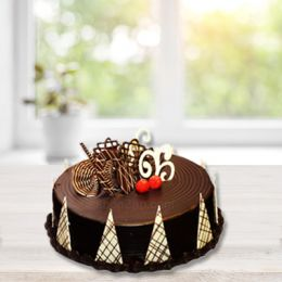 Chocolate Decorative Eggless Cake