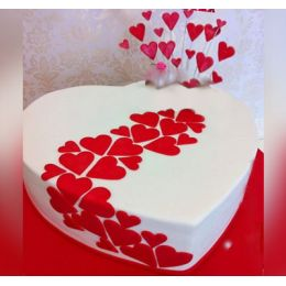 Gorgeous_Heart shape_Cake