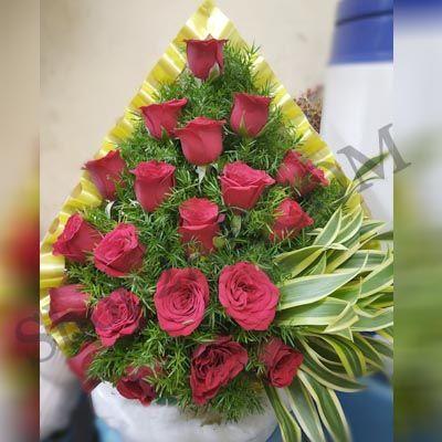 Shining_Red Roses_Basket